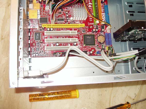 USB Bracket Wiring