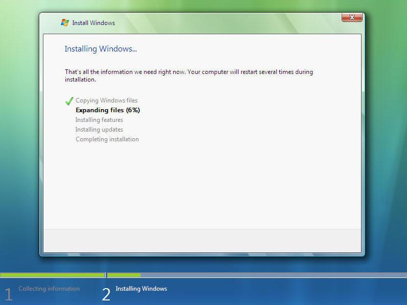 Install Windows Vista Screen 9