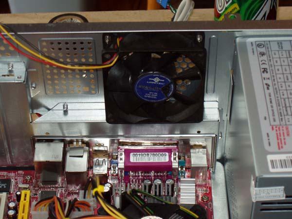 Installed Case Fan