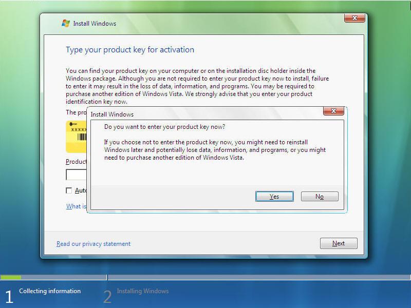 Install Windows Vista Screen 4